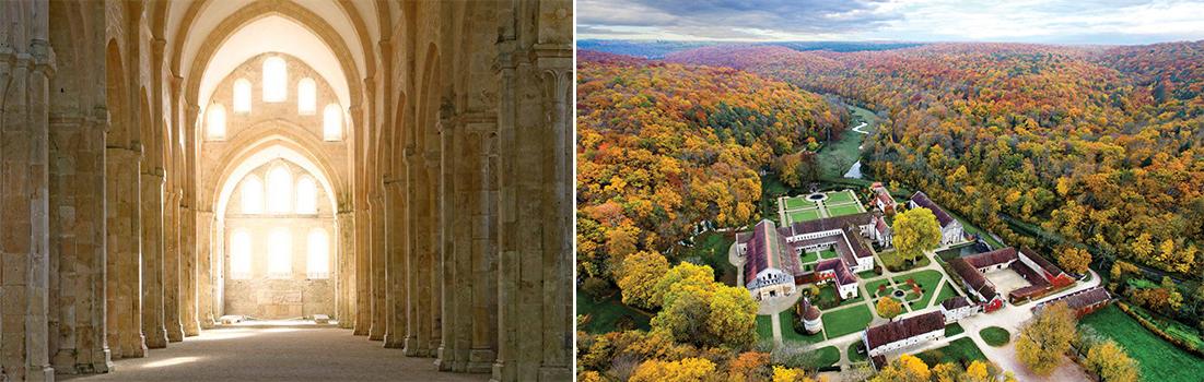 Abbaye de Fontenay en automne