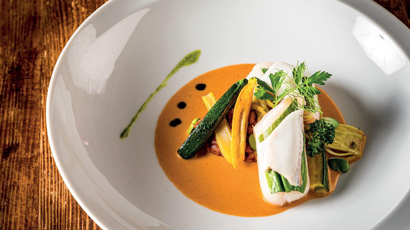 Plat restaurant La Bouzerotte